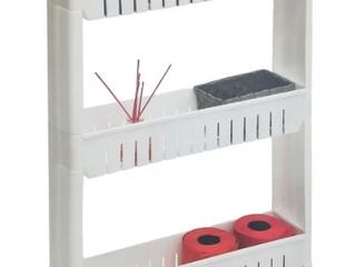 3 Tier Slim Rolling Multi Purpose Utility Cabinet