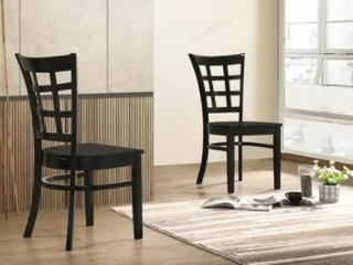 The Simple living Sienna Dining Chair Black  Set of 2  Retail 129 49
