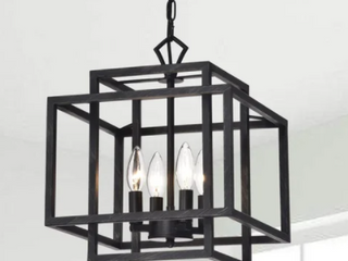 Eleonor Antique Black 4 light Ironwork Chandelier
