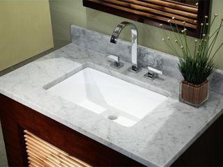 20 3 4 inch European Style Rectangular Shape Porcelain Ceramic Bathroom Undermount Sink  Retail 76 98