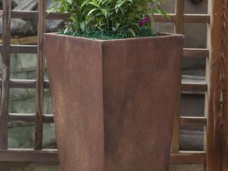 Bronze Finish Medium tall Angled Planter by Havenside Home