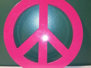 Pink Peace Sign Wall Hanging