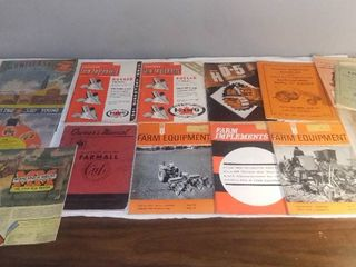 lot of VintageTractor and Farming Equipment Manuals Catalogs and Advertisements