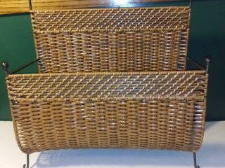 Wicker Magazine Rack