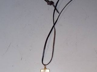 Sharks Tooth lucite Necklace