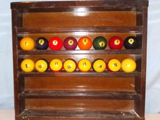 Vintage Wooden Billiards Ball Holder Balls Not Included