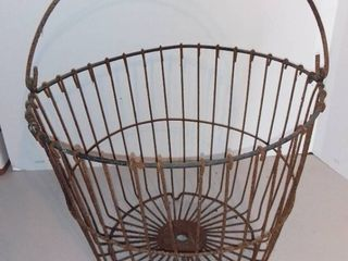 Staley Feeds Vintage Wire Basket With Handle