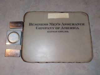 Antique lithography Stone From BMA Business Mens Assurance Company Kansas City