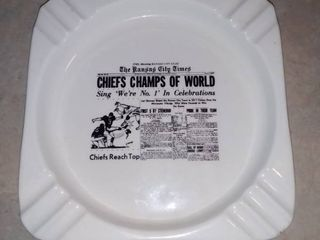 Vintage Chiefs Champs of the World Kansas City Times Ashtray