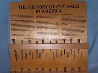 The History of Cut Nails in America Display