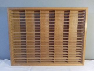 Napa Valley Wooden Wall Mount 100 Cassette Holder