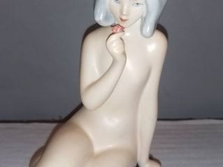Royal lux Porcelain Figurine Nude Woman With Rose