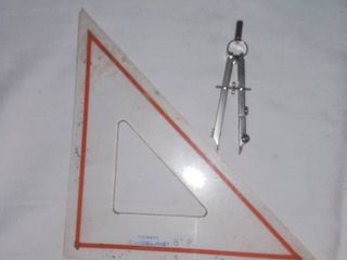 Pickett Guideline Drafting Triangle and Rotring Compass