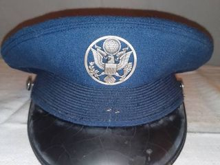 Vintage USAF Navy Blue Dress Hat Size 7