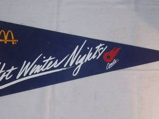 Vintage Kansas City Comets Hot Winter Nights Felt Pennant
