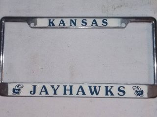 Kansas Jayhawks Metal license Plate Frame