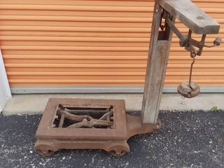 Antique Heavy Industrial Scale