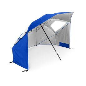 Sport Brella Super Brella SPF 50  Sun and Rain Canopy Umbrella for Beach and Sports Events  8 Foot  Blue