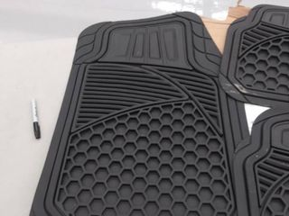 AmazonBasics 4 Piece Heavy Duty Car Floor Mat  Black