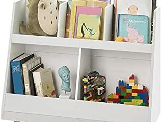Haotian White Children Kids Bookcase Book Shelf Storage Display Rack Organizer Holder  KMB19 W