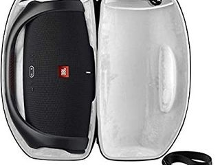 Case Compatible with JBl Boombox 2   Waterproof Portable Bluetooth Speaker  Hard Travel Storage Bag Fits for Cable and Adapter  Come with Shoulder Strap   Black