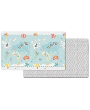Skip Hop Foam Baby Play Mat  Reversible Foam Floor Mat  86  x 52  little Traveler s