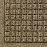 WaterHog Fashion Mat   Commercial Grade Entrance Mat with Fabric Border Aaa Indoor Outdoor  Quick Drying  Stain Resistant Door Mat  Camel  3  x 4