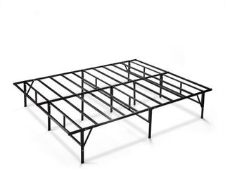 Zinus Dawn 14 Inch Easy To Assemble SmartBase Mattress Foundation   Platform Bed Frame   Box Spring Replacement  King