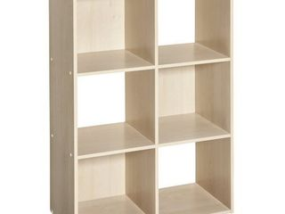 closetmaid 4176 cubeicals organizer  6 cube  birch  DAMAGED
