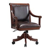 Hillsdale Palm Springs Caster Chair  Medium Brown Cherry