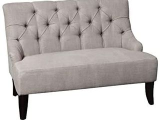 Christopher Knight Home Nicole Fabric Settee  Grey