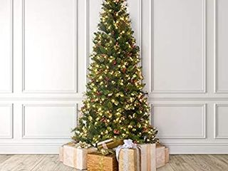 MARTHA STEWART Pinecone and Berry Pre lit Artificial Christmas Tree  5 Feet  Clear lights