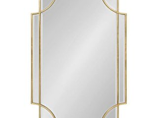 Kate and laurel Minuette Decorative Rectangle Frame Wall Mirror in Gold leaf  24x35 5 Inches