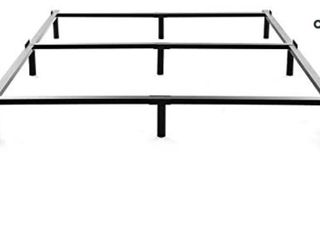 NOAH MEGATRON Full Size Metal Bed Frame 7 Inch Heavy Duty Bedframe  9 leg Support for Box Spring   Mattress Foundation  3000lBS  Black