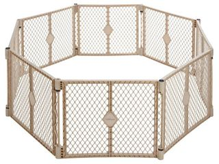 Toddleroo By North States Superyard Indoor Outdoor 8 Panel Freestanding Gate