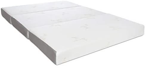 Milliard Tri Folding Memory Foam Mattress with Washable Cover Queen  78 inches x 58 inches x 6 inches