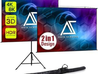 Akia Screens 104 inch Diagonal 4 3  8k 4k Ultra Hd Ready Motorized Home Theater