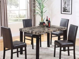 Best Master Furniture Britney Dining Table Only  Espresso Table only