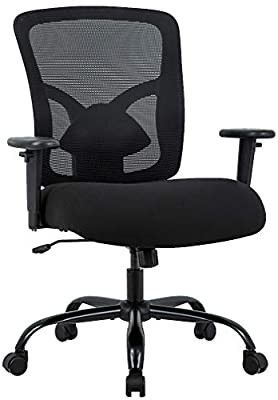Big And Tall Office Chair 400lbs Wide Seat Mesh Desk Chair Massage Rolling Swive
