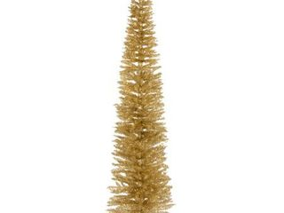 7 Foot Champagne Gold Tinsel Tree