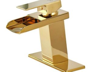 Single Handle Gold Bathroom Sink Faucet with Drain Assembly  Retail 89 99