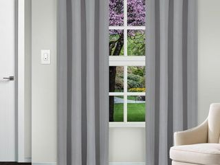 Impressions Reagan Solid Blackout Curtain Panel Pair with Grommet Header