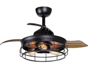 Industrial 36 In Retractable 3 Blade Ceiling Fan with light Kit  Retail 199 99