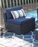 Phi Villa 2 piece Outdoor Rattan Sectional Sofa Set