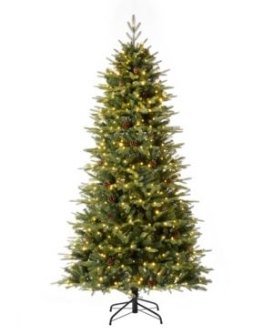 Glitzhome Pre lit Green Fir Artificial Christmas Tree with lED Warm lights and Remote Controller  Retail 316 99
