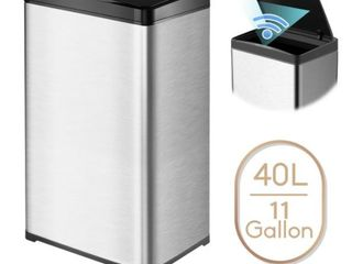 11 Gallon Automatic Trash Can Stainless Steel Touchless Motion Sensor  Retail 85 49