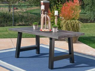 Ilido Outdoor Rectangle Picnic Dining Table by Christopher Knight Home  Retail 1291 99