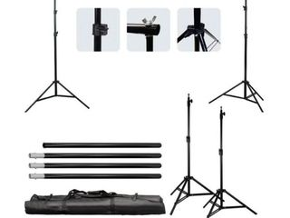 10Ft Adjustable Photography Video Background Support Stand Kit w Carry Bag