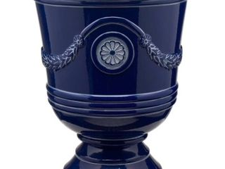 2 Southern Patio 18 Inch Tall Porter Urns Navy