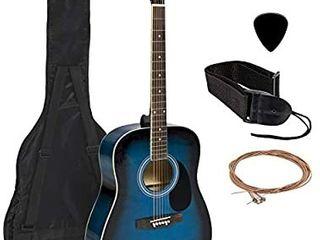 Meda  38in Beginner Acoustic Guitar Starter Kit W  Case Strap Digital E tuner  Retail   233 99